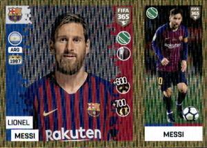 Panini-FIFA365-2019-Sticker-94-a-b-Lionel-Messi-FC-Barcelona