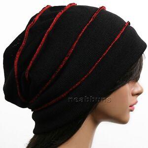 best beautiful slouchy BEANIE men women top chic Hats ski winter Cap ... 56c01545211