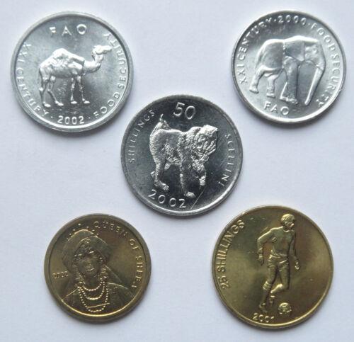 Somalia Coins Set of 5 Pieces UNC