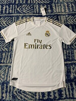 adidas Mens Fly Emirates Dw4436 White Soccer Jersey Real Madrid ...