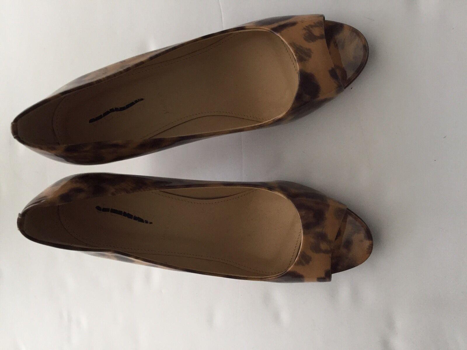JCREW JCREW JCREW Leopard Peep Toe Sandals Heels Size 5.5 895592