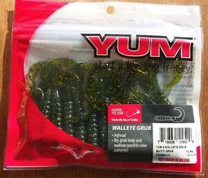 BEST-DEAL-MARDI-GRAS-4-034-Yum-Walleye-Grubs-12ct-Twister-Curly-Tail-Bass