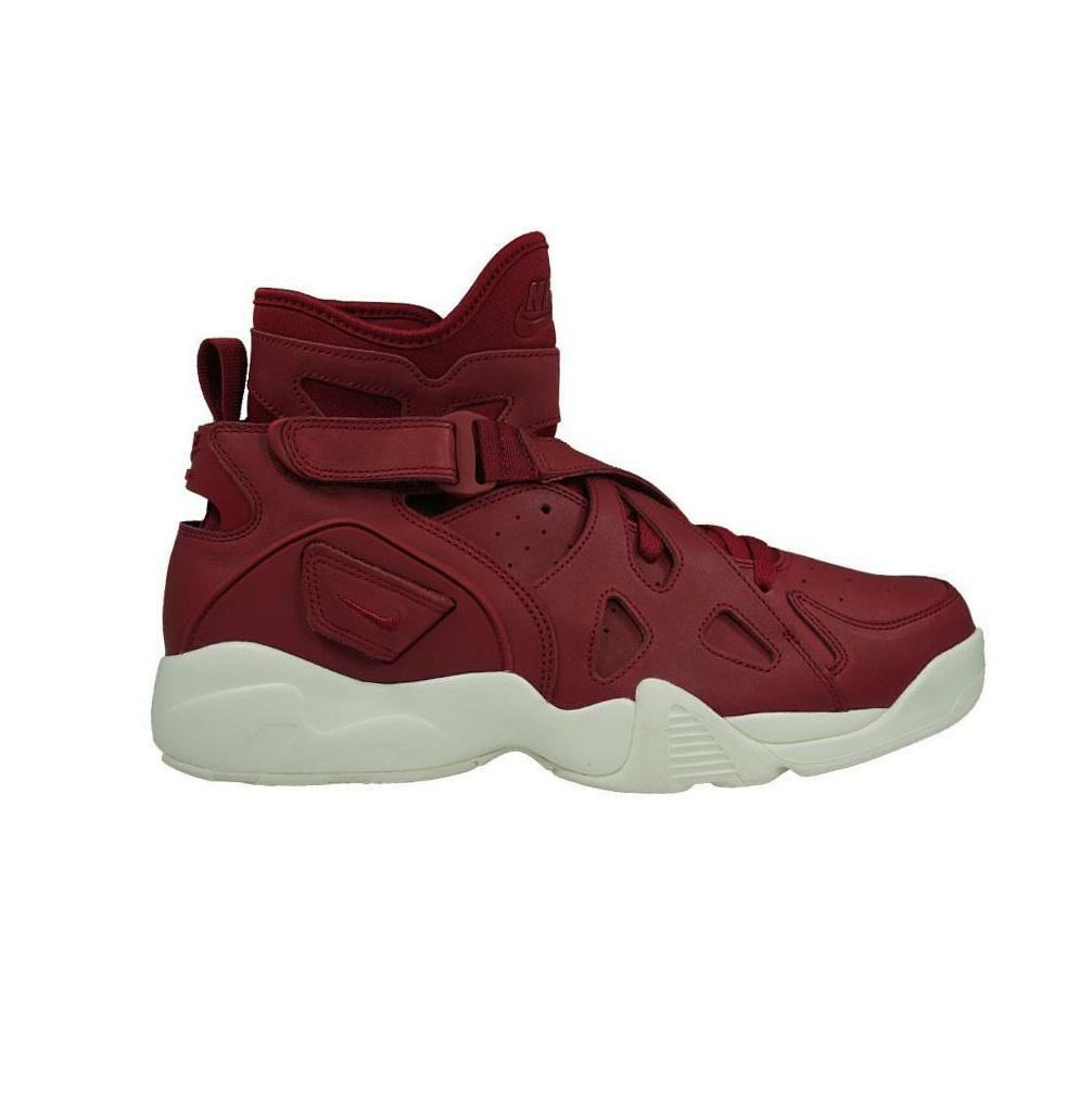 Mens NIKE AIR UNLIMITED Red Leather Trainers 854318 661