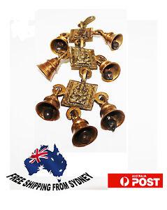 Home-Decoration-Hindu-God-Ganesh-Brass-Hanging-Bells-7-Bells-set