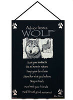 Wall Art - Advice From A Wolf Tapestry Wall Hanging