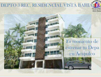 Departamento de 3 recamaras en Recidencial Vista Bahía