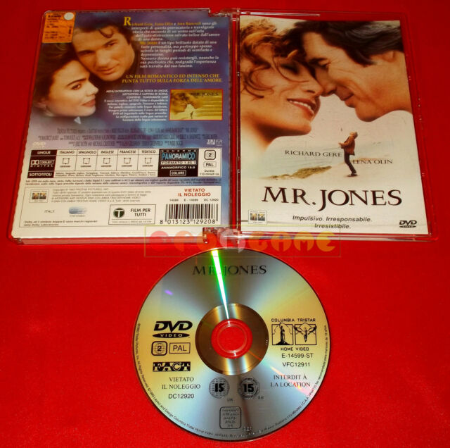 MR. JONES (Richard Gere, Lena Olin ) - Dvd JEWEL Box - USATO - FL