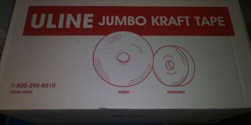 "Case of Uline Industrial Reinforced Kraft Tape 3/"" x 900/' Packing Moving Shippi"