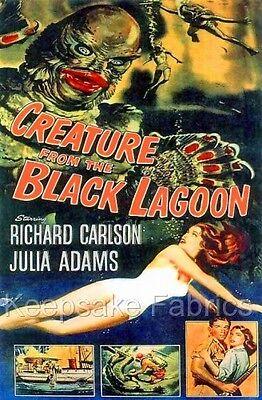 Creature Black Lagoon Comic Fabric Block Multi Sizes