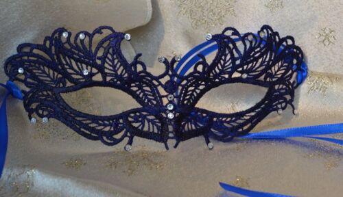 Blue Masquerade Mask Diamante Venetian Style Weddings New Year 2019 Masked Balls