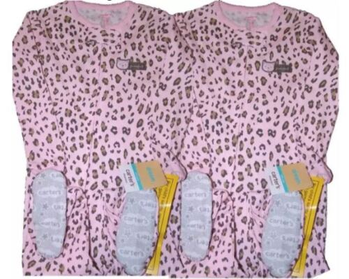 TWINS CARTERS PAJAMAS GIRLS FOOTED 1 PIECE SLEEPWEAR LOT COMFY FIT LIGHT WEIGHT