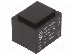 Transformador-Revestido-2-1VA-400VAC-18V-18V-58mA-99g-Bv-Huevo-304-2711-Pcb-T