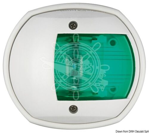 Osculati Compact 12 White Compact 112.5 Degrees Right Green Navigation Light