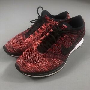 finest selection 2bbf7 94fee Image is loading Nike-Flyknit-Racer-Size-13-University-Red-Rooster-