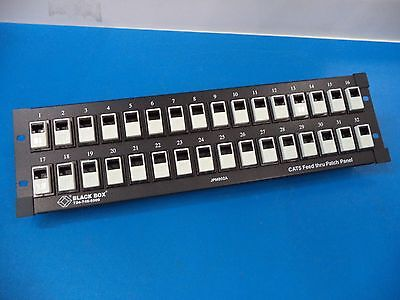 BLACKBOX, FEED-THROUGH CAT-5 UNSHIELDED 32 PORT PATCH PANEL, JPM802A - USED