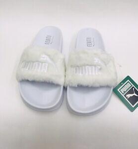 d5d815ae3d3b New Puma Womens Size 11.5 Leadcat Fenty By Rihanna Slides White ...
