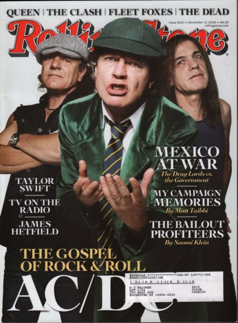 Rolling Stone November 13 2008 AC/DC, Taylor Swift w/ML EX 121815DBE2