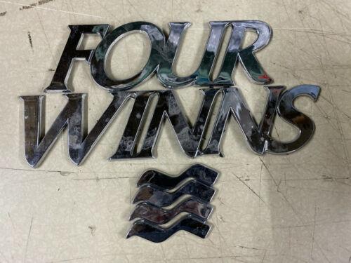 Original FOUR WINNS boat Emblems LETTERS PLASTIC