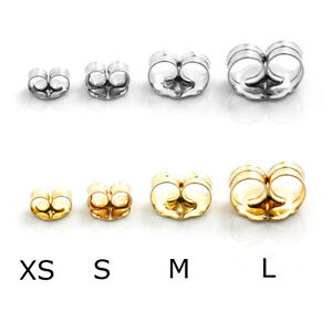 1 pair push backs replacement earrings 14k white or yellow