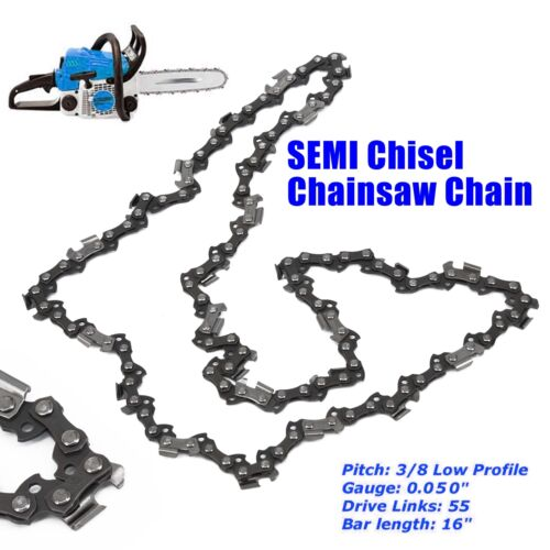 """SEMI Chisel 16/""""  Chains For Most Stihl Chainsaw Bar 3//8 Pitch .043 Gauge 55DL CA"""
