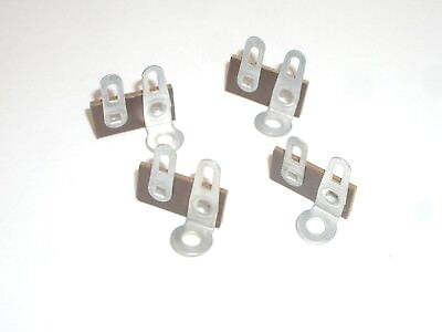 VINTAGE PHENOLIC SMALL TERMINAL STRIP 4 TAG POST 1 COMMON GROUND 6PC SET