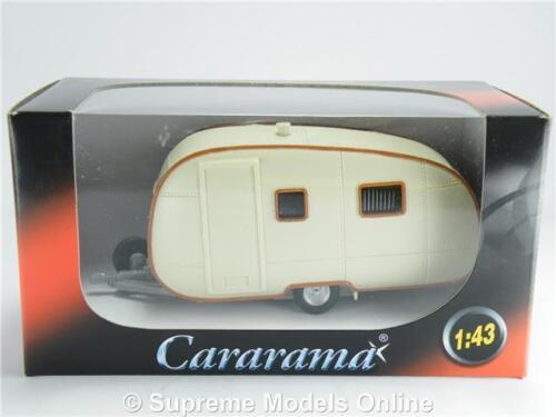 Escala 1:43 Modelo De Caravana Remolque RV Motor Home Crema Cararama 60/'S//70/'S 251ND K8