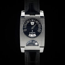 De GRISOGONO FG One Jump Hour GMT Retrograde Stainless Steel & Alligator Watch