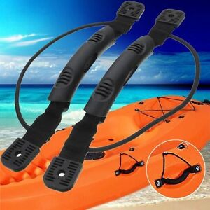Details about DIY 2PCS Kayak Canoe Boat Side Mount Carry Handle With Bungee  Cord Accessories