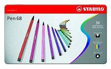 Stabilo Point 68 50-color Pens Metal Tin Set