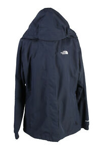The-North-Face-Windbreaker-Jacket-Coat-Womens-Packable-Hood-Retro-L-Navy-C1921