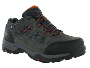 Hi-Tec-Waterproof-Bandera-Charcoal-Leather-Lace-Walking-Hiking-Mens-Wide-Trainer