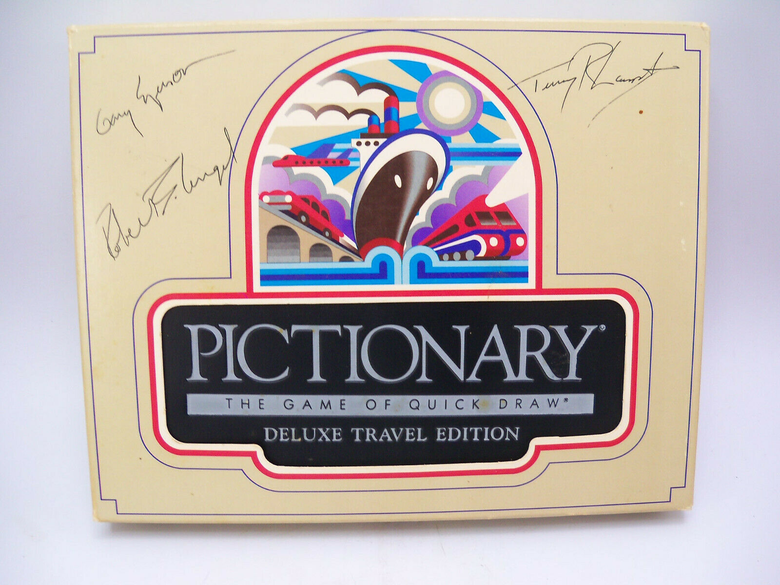 Momentus Signed by Creators Robert Angel PICTIONARY Deluxe Travel Edition 1985