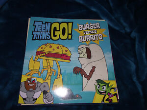 BRAND-NEW-Book-DC-Comics-Warner-Brothers-Teen-Titans-Go-Burger-Versus-Burrito