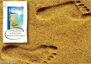 2005-Australian-Maxi-postcard-FOOTPRINTS-IN-SAND