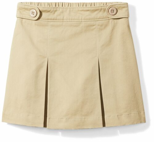 Little Girls/' Uniform Skort for school with comfort Khaki Black Navy Skorts