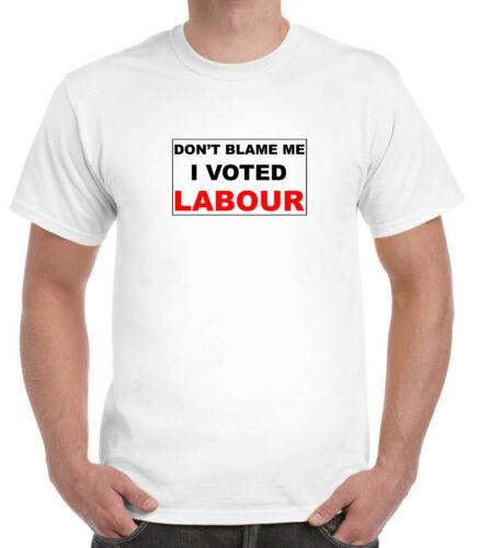 White T-shirt Corbyn Election defeat politics MP I voted Labour Don/'t blame me