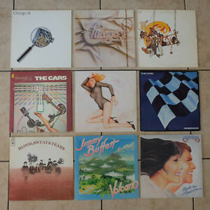 Lot-of-7-Random-Classic-Rock-LP-Vinyl-Records-1960s-70s-80s-VG-to-VG