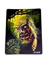 Original Painted Swamp Zombie Token Magic the Gathering Altered MtG Card