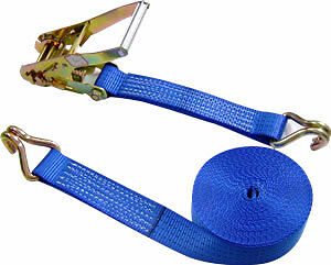 HEAVY DUTY LOAD STRAPS//RATCHET LASHING 50MM X 10M TWIN PACK