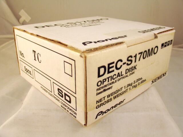 NEW Boxed Pioneer DEC17GMO Media Box of 5 DEC-S170MO Siemens Optical Disk
