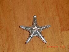 SATIN CHROME STAR FISH CABINET HARDWARE  KNOBS  $3.30 each LOWEST PRICE ON EBAY!