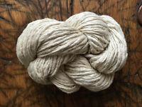 Rustic Handspun Undyed Silk Noil Yarn