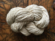 Rustic Handspun Undyed Silk Noil Yarn, Knitting, Weaving, Crochet