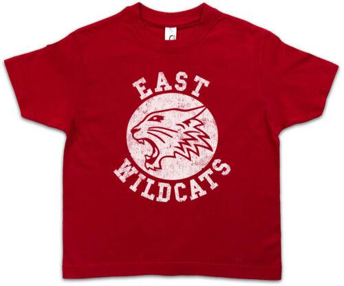 East Wildcats Enfants Jeunes T-shirt High school basketball Comédie Musicale Cats équipe