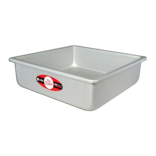 Fat Daddio/'s PSQ-11113 Anodized Aluminum 11 x 11 x 3 Inch Square Cake Baking Pan