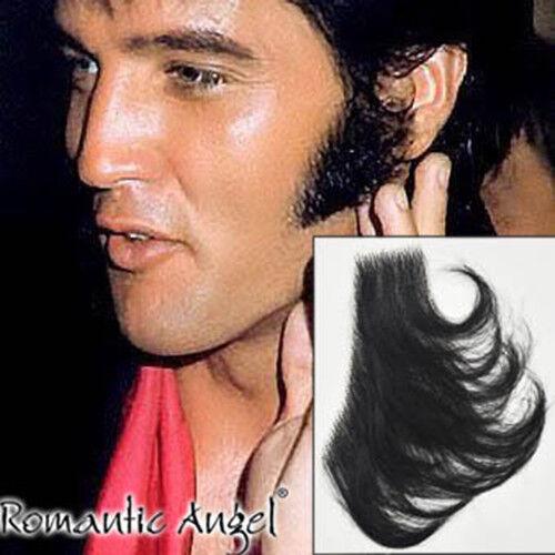 Cosplay Elvis Presley Sideburn BLACK Fake Beard Sideburn Mustache Facial Hair