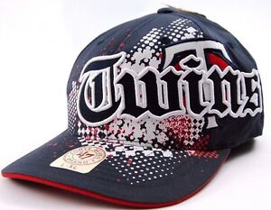 Minnesota Twins 47 Brand Amp'd Up MLB Baseball Stretch Fit Cap Hat L/XL
