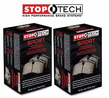 Front and Rear Sport Brake Pads Set Kit StopTech fits Infiniti G37 Nissan 370Z