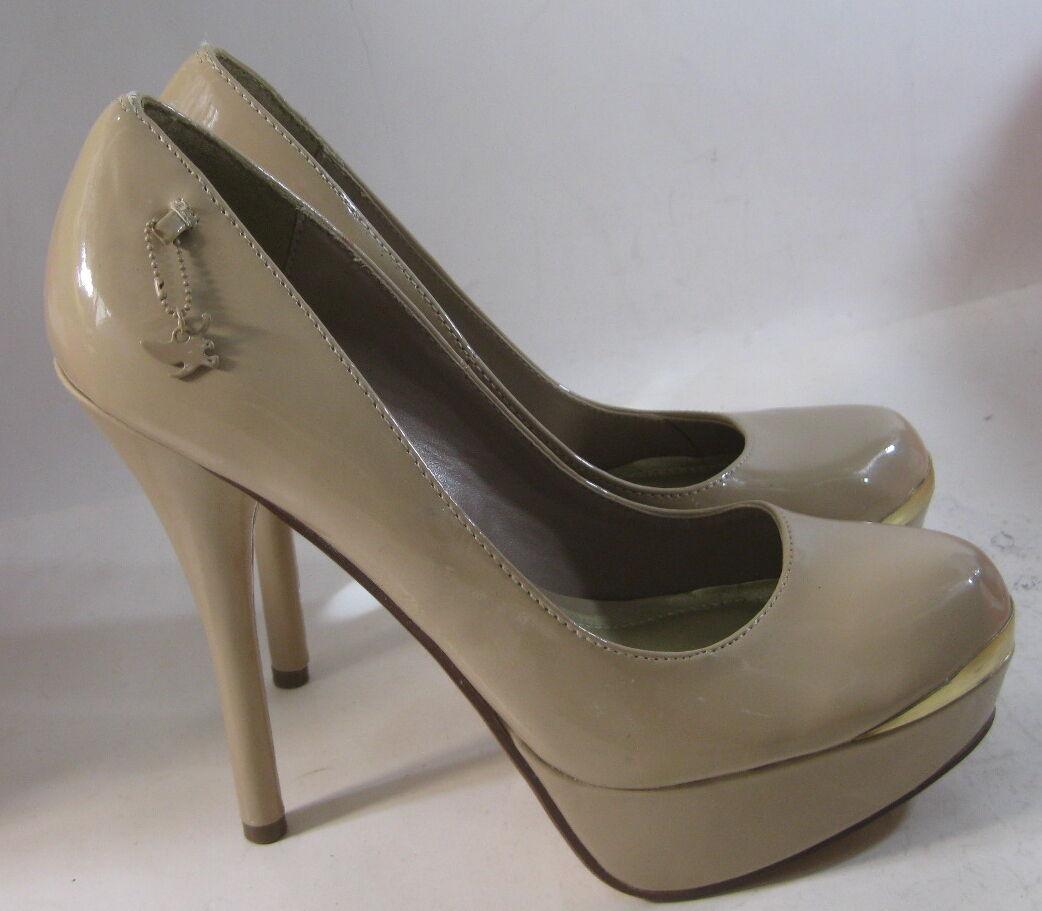 NEW Skintone 5.5 Stiletto High Heel 1.5 Platform Round Toe Sexy shoes Size 9