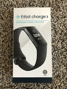 Fitbit Charge 3 Fitness Activity Tracker Graphite//Black Pebble only